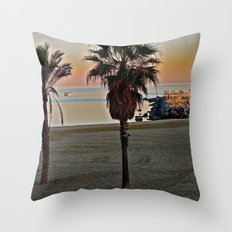 Barcelona Beach Throw Pillow