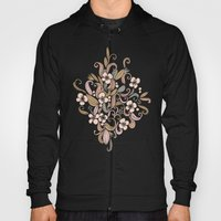 Floral Curve Pattern, Ro… Hoody