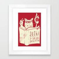 Sushi for Cats Framed Art Print