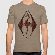 Skyrim Alduin Mens Fitted Tee Tri-Coffee SMALL