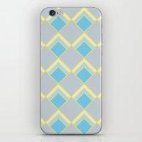Diamond Art Deco; - Blue iPhone & iPod Skin