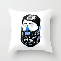 Animal Beard Throw Pillow
