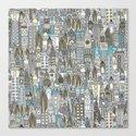 aluminium city Canvas Print