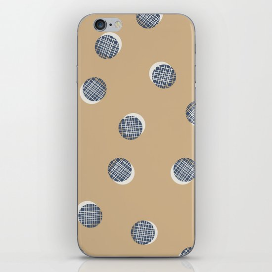 Mixed Dots - in Cocoa iPhone & iPod Skin