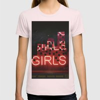 girls night ;) Womens Fitted Tee Light Pink SMALL