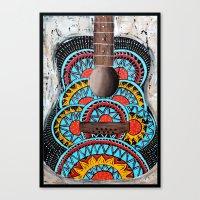 Retro Guitar Canvas Print