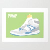 Pump Minimalist Art Print