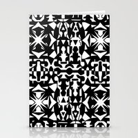 Black And White Square 2 Stationery Cards