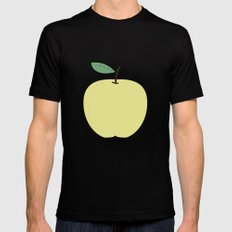 Apple 18 SMALL Black Mens Fitted Tee