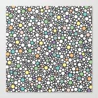 Pastel Puzzle Bubble 3 Canvas Print