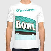 Let's Bowl! Mens Fitted Tee White SMALL