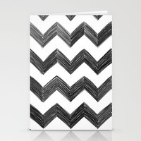 Classic Chevrons in Black Stationery Cards