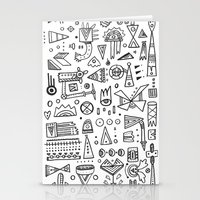 Triangle doodles Stationery Cards