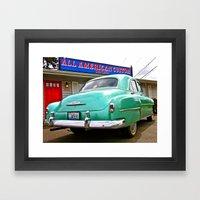 All American Framed Art Print