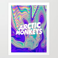 Art Print featuring Psychedelic Arctic Monke… by Julia
