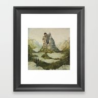 Framed Art Print featuring Mountains Out Of Molehil… by Stephanie B. Curtis