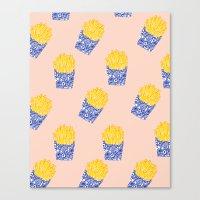Floral Fries Canvas Print