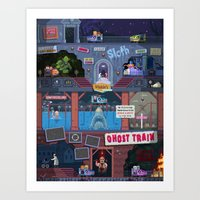 Jump Scares Ghost Train... Art Print