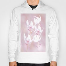 White lilies with pink background Hoody