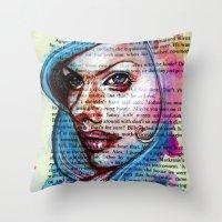 Bette Davis Eyes Throw Pillow