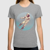 Time & Space Womens Fitted Tee Tri-Grey SMALL