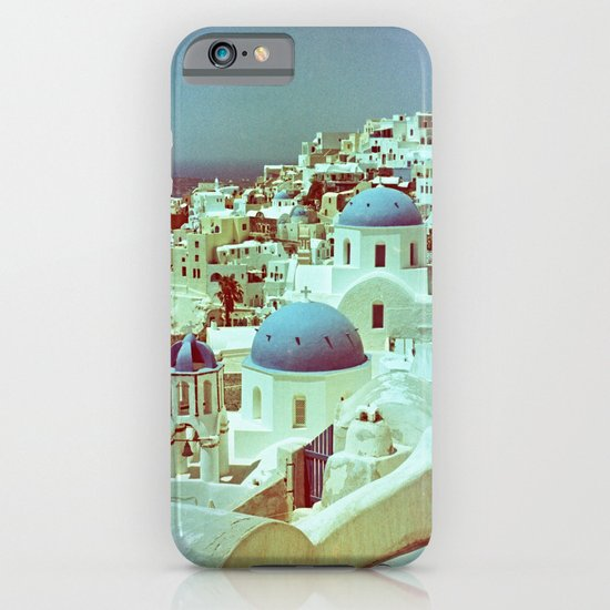 Santorini in Raspberry and Blue: shot using Revolog 600nm special effects film iPhone & iPod Case