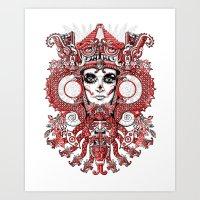 Red Serpent Queen Art Print