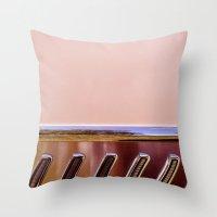 Pink Classic American Car Throw Pillow