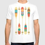 Summer Lake Mens Fitted Tee White SMALL