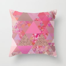 Triangles In Glittering … Throw Pillow