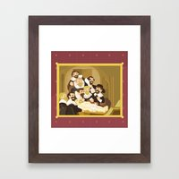 The Anatomy Lesson By Re… Framed Art Print