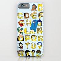 Simpsons Alphabet iPhone 6 Slim Case