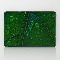 Green Bubbles iPad Case