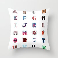 Illustrated Letters - Se… Throw Pillow