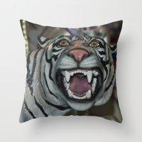 Kitty, Kitty Throw Pillow