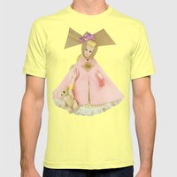 Carousel Of Color Mens Fitted Tee Lemon SMALL