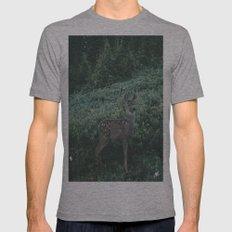 Deer II Mens Fitted Tee Athletic Grey SMALL