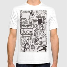 Logo Mania Mens Fitted Tee SMALL White