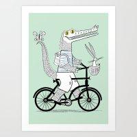 The Crococycle Art Print