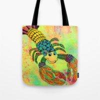 Zentangle Lobster Tote Bag