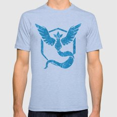 Pokemon,Team Mystic Mens Fitted Tee Athletic Blue SMALL