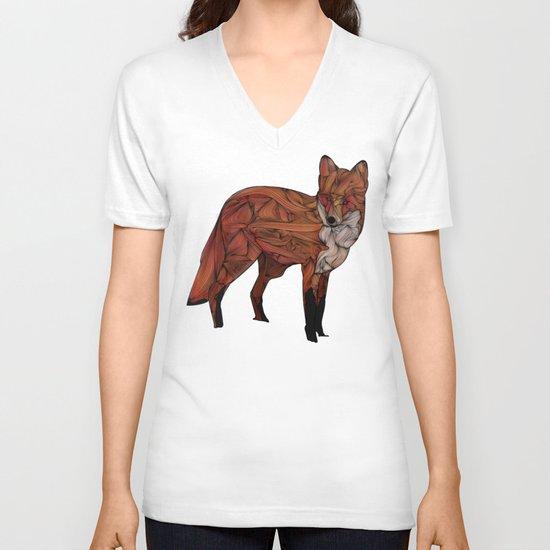 Red Fox V-neck T-shirt