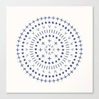 Radial - in Cobalt Canvas Print