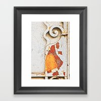 Gate detail Framed Art Print