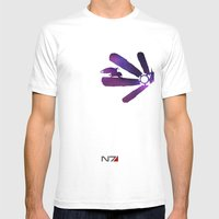 Mass Effect 1 (w/quote) Mens Fitted Tee White SMALL