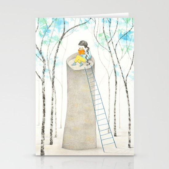 A different Rapunzel Stationery Card