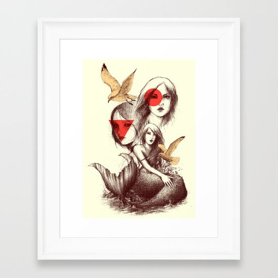 When Mermaids Cry Framed Art Print