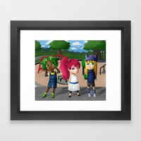 At the Playground Framed Art Print
