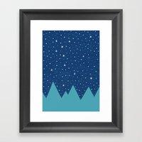 Stars And Peaks Framed Art Print