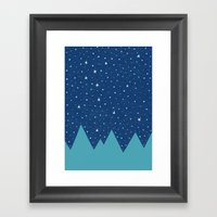 Stars And Peaks Framed Art Print